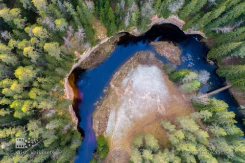 droonifotod pildistamine drooniga Taevaskoja Ahja jõgi