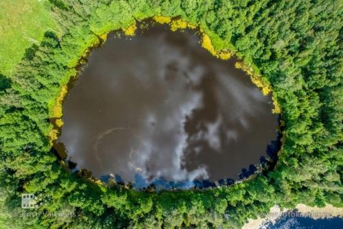 droonifotod pildistamine drooniga Väike Linajärv Endla Loodukaitseala