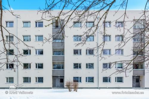 kortermaja renoveerimine kortermaja välisfassaadi pildistamine Aardla 132 Tartu